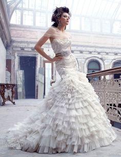 Lazaro Wedding Dress, beautiful!