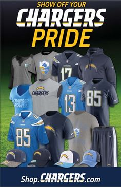 16) All of Charlie's friends and family knew what to buy Charlie for gifts.  Whether it was from the official website or the mall, Chargers gear always made Charlie happy.