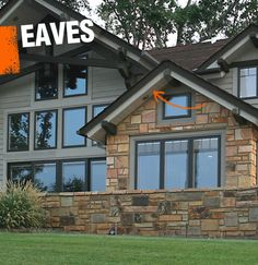 Eaves are the very edges of a roof that hang over the side of the building, keeping water from running down exterior walls.