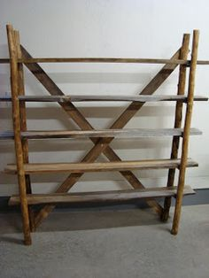 follow your heart woodworking: Making a log shelving unit - part 3