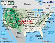 US Map USA Map United States Map Maps And Information About - Landforms of the united states