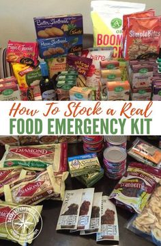 How To Stock a Real Food Emergency Kit scary to think about a survival situation, but much worse to be ill-prepared for one. An emergency supply kit is important to keep on hand, whether you live in a neighborhood or isolated. Emergency Food Kits, Emergency Preparedness Kit, Emergency Preparation, Emergency Supplies, Survival Prepping, Survival Skills, Survival Gear, Survival Shelter, Survival Equipment