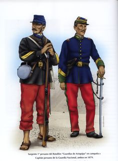 American Uniform, American War, Military Art, Military History, War Of The Pacific, World Of Warriors, World War One, Napoleonic Wars, France