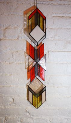 Stained Glass Elements Chevron Arrows set of 3 by BespokeGlassTile