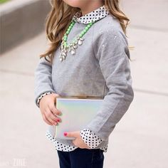 Osh Kosh kids pullover feature lots of shimmer, shine and sparkles.