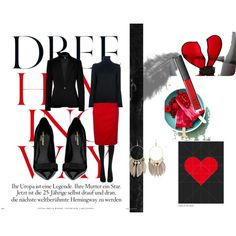 """""""litlle more red"""" by lizmau on Polyvore"""