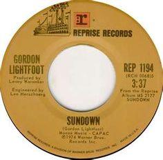 Gordon Lightfoot Sundown 1974