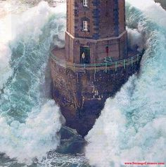 Storm in Galicia... Jument lighthouse, France...