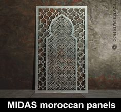 MIDAS moroccan laser cut metals screens