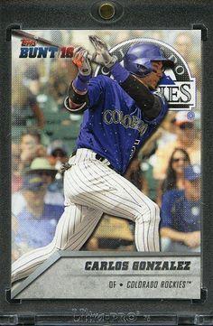 2016 Topps Bunt Baseball 1/1 Blank Back. Carlos Gonzalez ROCKIES