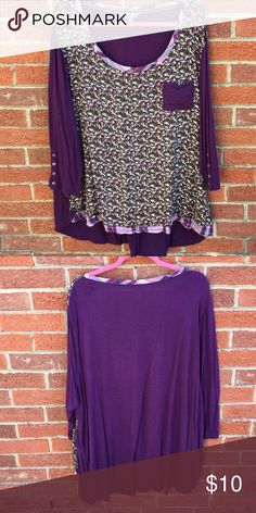 Purple Floral Top Cute and comfy. Comes from a smoke free and pet free home. Moving soon so I need sell as quickly as possible. Accepting all reasonable offers but please use the offer button. Naturals Tops Blouses