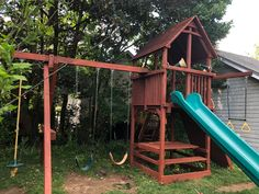 Playset Refurbish (safety check, tune-up, sand, stain/seal) Wood Playground, Relocation Services, Seal, Safety, Yard, Check, Security Guard, Patio, Courtyards