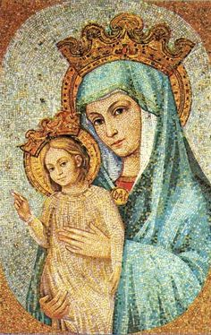 Mater Ecclesiae  The mosaic of Mary as the Mother of the Church, which overlooks St Peter's square in Rome.