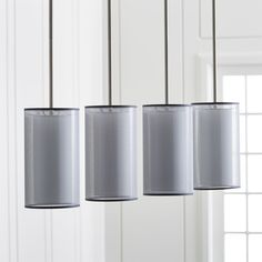 Eclipse Silver Linear Chandelier - Crate and Barrel