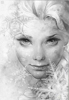 Elsa from frozen fan art Disney movie Disney Fan Art, Disney Love, Art And Illustration, Illustration Pictures, Art Illustrations, Illustrator, Disney Kunst, Snow Queen, Ice Queen