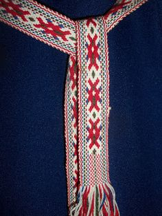 Belt from an Estonian folk costume. Warp-faced... inkle?