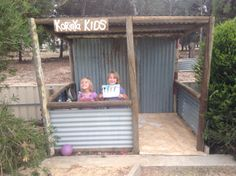 Rustic recycled cubby house