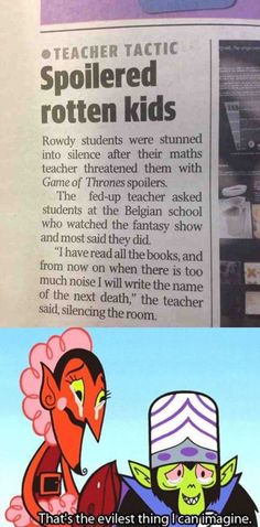 The Evilest Thing For Any Game Of Thrones Fan