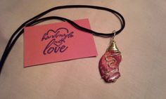 Check out this item in my Etsy shop https://www.etsy.com/listing/242668700/wire-wrapped-red-stone-pendant-with