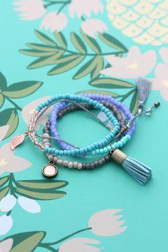 Cloud Nine Creative - Tassel Bracelet Set - Turquoise