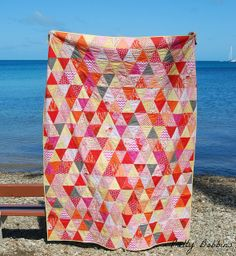 triangle quilt front by Pretty Bobbins, via Flickr