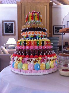 Gâteau de bonbons. À faire avec les enfants avant qu'ils ne le mangent !!!!!!!