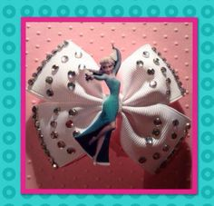 #Elsa #Frozen #Bow with #Bling available from Poppets Hair Bowtique