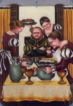 Four of Cups - Anna.K Tarot by Anna Klaffinger