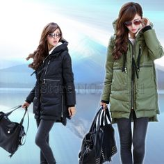 Cheap coat girl, Buy Quality jacket coat women directly from China coat jacket men Suppliers: New 2015 Fashion Brand Long Winter Coat Women White Duck Down Jacket Female Parka With Hood Army Green Black Outerwear For Women Coats For Women, Jackets For Women, Clothes For Women, Women's Jackets, Long Winter Coats, Winter Jackets, Fashion Brand, New Fashion, Duck Down Jacket