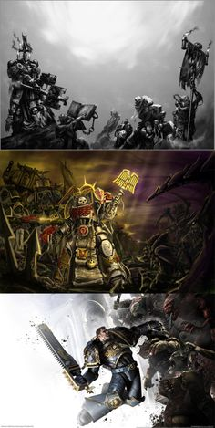 Warhammer 40k, dark angels, the chaplain, the soldiers, space marine, tyranids