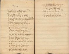 Undated working manuscript of 'Ithaka' in Cavafy's hand. Cavafy Archives. #Greek #poetry