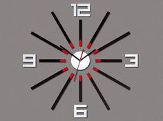 Wall Clock SHEEN large wall clock gift wall decor Unique wall clocks Mirror Red Black