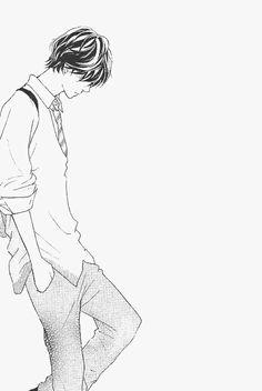 manga, ao haru ride, and anime image Cute Anime Guys, Anime Love, Sad Anime, Manga Anime, Ao Haru Ride Anime, Tanaka Kou, Futaba Y Kou, Blue Springs Ride, Hirunaka No Ryuusei