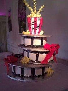 Hollywood party cake #Hollywood #partycake or build this out of plywood for large room decoration