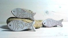 Ceramic fish, Diy craft supplies, Artisan creator supplies, jewellery beading supplies, Ceramic white fish, Necklace supplies, Enamel fish, by itssomimipottery on Etsy