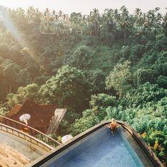 Mornings- overlooking the jungle of Ubud from our Villa @kamandalu #Ubud #Kamandalu by gypsea_lust