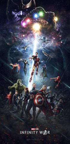 #Avengers #Fan #Art. (Avengers Infinity War Poster) By: Themadbutcher. --> This is amazing *-*