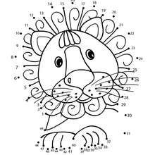 LION dot to dot game - Free Kids Games - CONNECT THE DOTS games - ANIMALS dot to dot