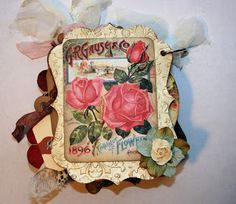 Shabby Beautiful Scrapbooking: Gardening Seed Catalog Mini album