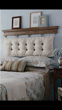 Testiera letto imbottita da applicare alla parete | Testiera letto ...