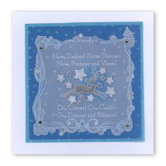 Twas the Night baby plate Groovi card created by Amanda Branston