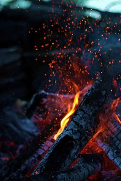I love sitting by a cracklin' fire in the cool air of a spring or fall morning / evening!