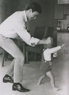 "Bruce Lee & Brandon Lee - 1966 ""My dad said time was the most valuable thing a person had."" - Brandon Lee From Life's ""Legends""."