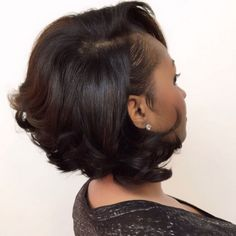 60 Showiest Bob Haircuts for Black Women 60 Showiest Bob Haircuts for Black Women - Black Haircut Styles Black Bob Hairstyles, Side Bangs Hairstyles, My Hairstyle, Cute Hairstyles, Straight Hairstyles, Bob Haircuts, Weave Hairstyles, Layered Bob Hairstyles For Black Women, Hairstyle Ideas