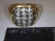 Joyería para los hombres, hechos a mano.  Masters Feria - hecho a mano.  Comprar anillos de diamantes de los hombres.  Hecho a mano.  El oro, anillo masculino