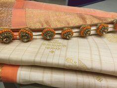 Saree Tassels Designs, Saree Blouse, Silk Sarees, Sari Blouse