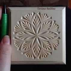 Chip carving (design by Tatiana Baldina) https://instagram.com/tatbalcarvings/