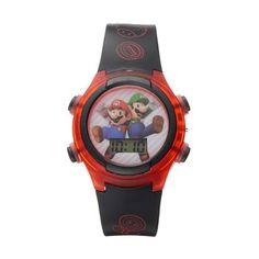 Super Mario Bros. Mario & Luigi Kids' Digital Light-Up Watch