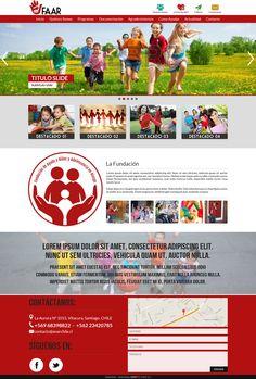 Maqueta de Sitio Web para Anar Chile