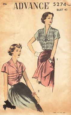 1940s Plus Size Shirred Blouse or Blouse with by daisyepochvintage, $20.00